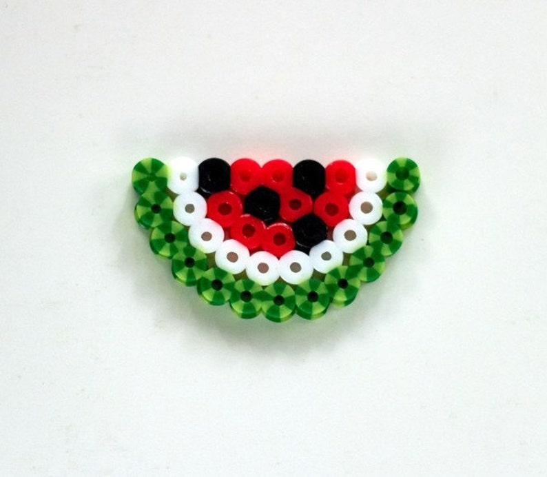 Aimant De Pastèque Perles Hama Hama Perles De Melon D Eau Porte Clé Aimant De Pixel Art Pastèque Melon D Eau Pixel Art Porte Clé