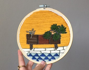 Embroidery hoop wall art - READY TO SHIP