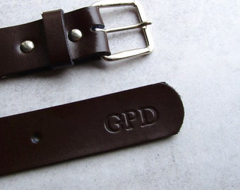 d296a3b8b Handmade Personalised Men's Leather Belt - Gifts For Him - Anniversary Gift  - Monogrammed Belt - Wedding Gift - Personalized Belt