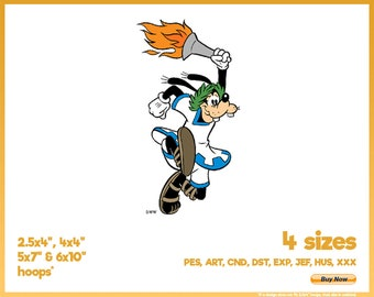 Goofy Carrying Olympic Torch - Sports Inspired Disney Character Designs - 4 sizes Embroidery Logo