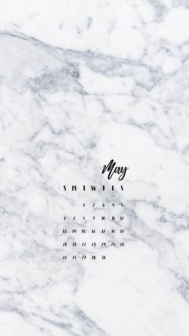 2019 Marble Printed Handle 10pcs Makeup Brushes Set: IPhone Calendar Wallpaper White Marble