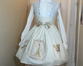 Le Petit Miaou Dreams of Paris Jumperskirt (Jsk) Classic Lolita ONE OF A KIND