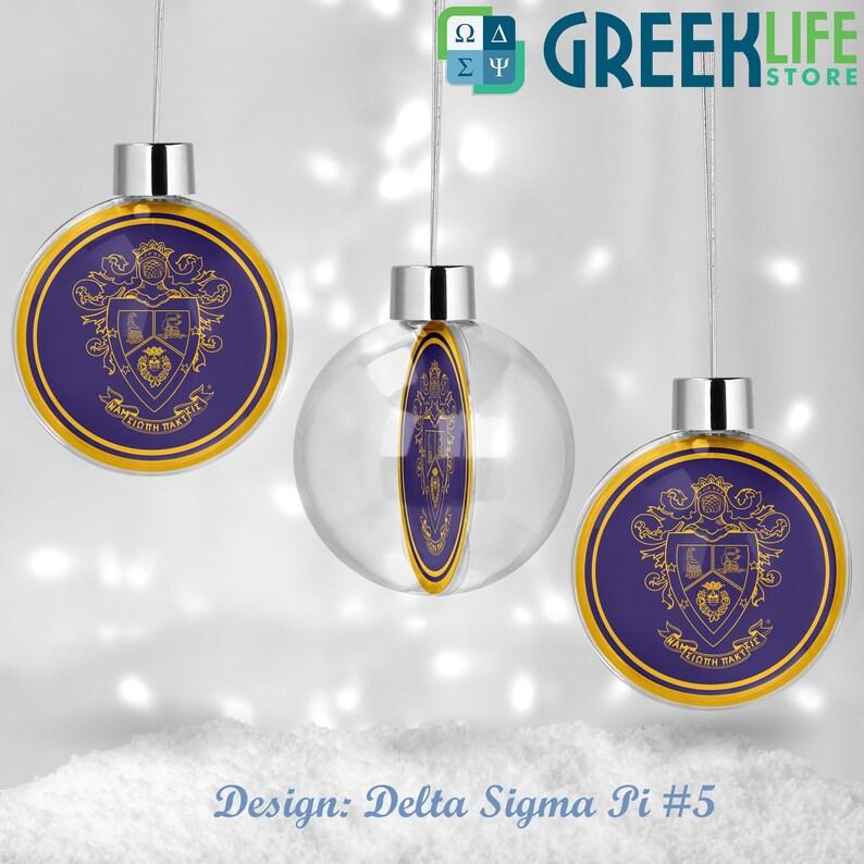Delta Sigma Pi Round Ball Ornament Christmas Decor