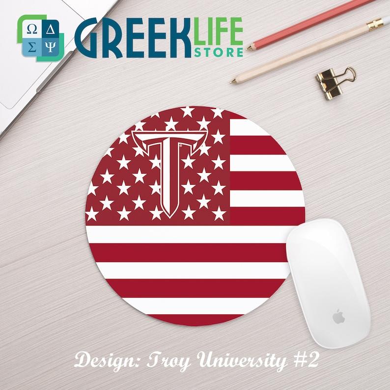 Troy University Mousepad Round