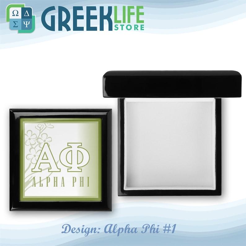 Alpha Phi Wooden Keepsake Box