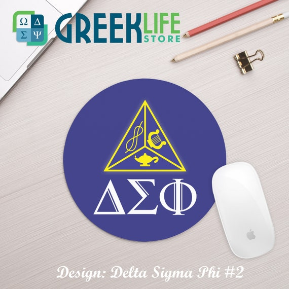 Delta Sigma Phi Leatherette Oval Keychain