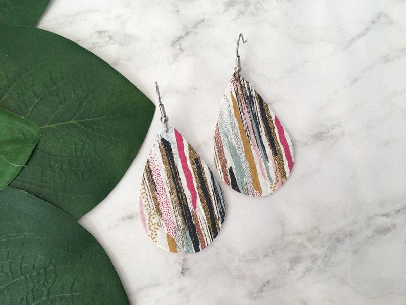 Brushstroke Leather Earrings