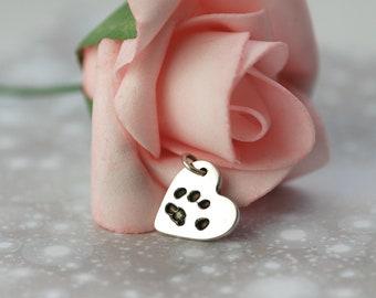 Actual Paw Print Charm - Custom Made - Pet Supplies - Pet Accessories - Birthday - Christmas -  Sterling Silver - Pet Memorial - Keepsake