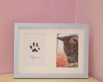 Inkless Pet Paw Print Kit with Frame - Cats - Dogs - Non Toxic - Pet Supplies - Pet Accessories - Pet Keepsake - Christmas Gift - Birthday