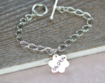 Silver Message Charm - Silver Name Charm - Bracelet - Birthday Gift - Christmas Gift - Custom Made - Personalised - Name Jewellery