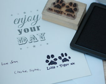 Personalised Actual Paw Print Stamp - Custom Made - Pet Supplies - Pet Accessories - Pet Keepsake - Mothers Day - Christmas - 2 paws