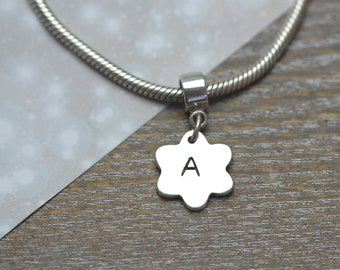 Silver Message Charm with Charm Carrier - Name Charm - Bracelet - Christmas - Birthday Gift - Custom Made - Personalised