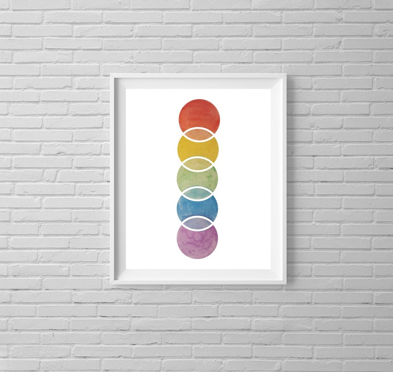 Spectrum Print | Rainbow Watercolor Design | Multiple Sizes to Choose -  Print