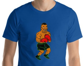 d6f02ba7 Iron Mike, Punch Out, 64bit Tyson, Short-Sleeve Unisex T-Shirt