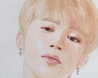 BTS Jimin watercolour painting