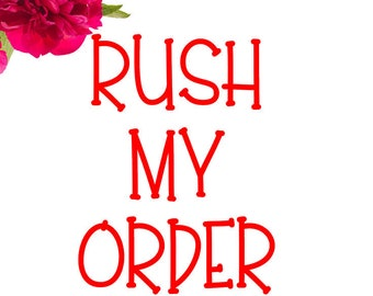RUSH MY ORDER - Ships Next Business Day