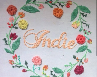 Embroidered Name Canvas