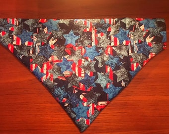 4th of July Red, White, and Blue Dog Bandana