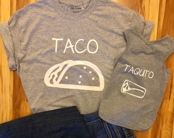 eaf41dbe2d8a Taco Taquito Matching Parent and Baby Shirts, Dog and Owner Shirts, Shirts  For Dogs, Mommy & Me Shirts, Taco Shirt