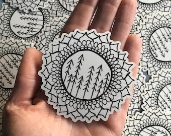 Redwood Mandala sticker