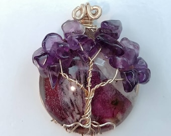 Family Tree Pendant with Inclusions
