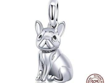 17f92b0475a Trendy French Bulldog Pendant Charms fit Bracelet Necklace 100% Authentic 925  Sterling Silver Charms Fits European Pandora Charm Bracelet