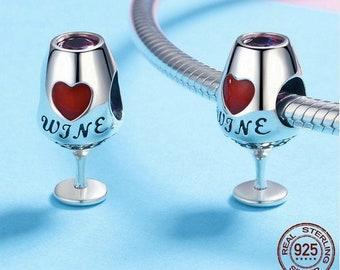 Wine Pandora Charm Etsy