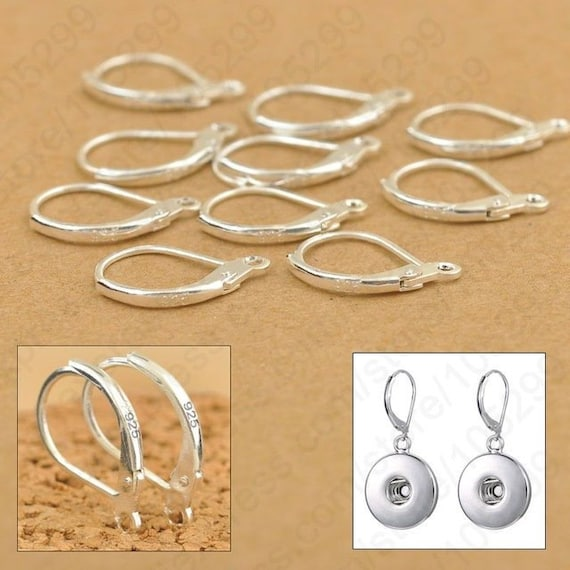 Solid 925 Sterling Silver Leverback Earring Wires Huge Findings Jewellery Making