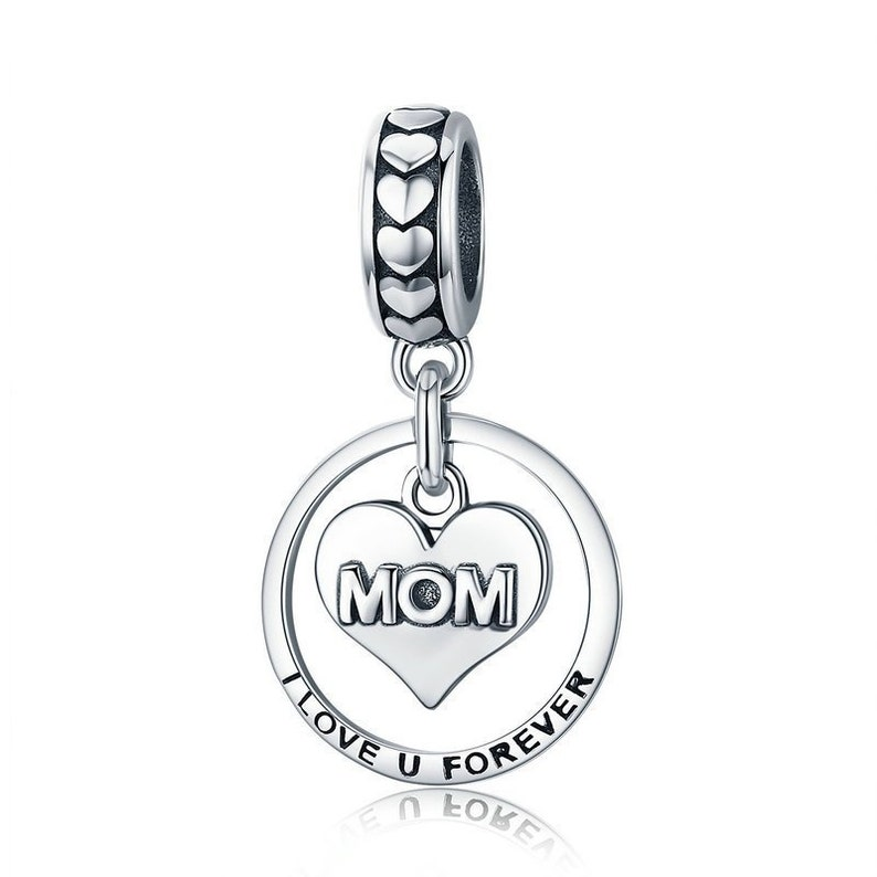 ef9e341bb9c Mom Charm Mother Charm 925 Sterling Silver Dangle Charm Fits | Etsy