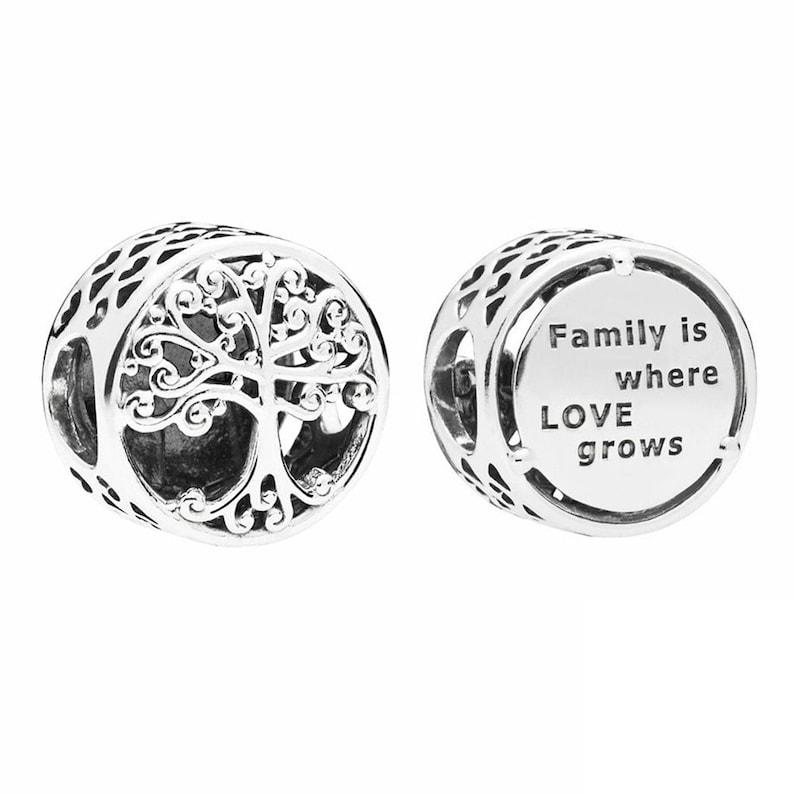 3b8da8303 Family Roots Charm fits pandora Charm Bracelet Silver 925   Etsy