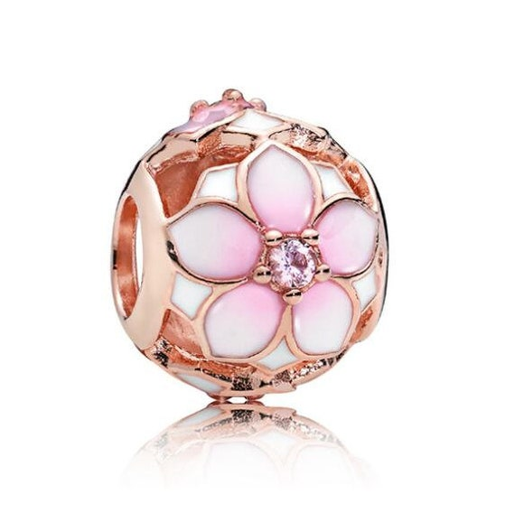 pandora charm originali magnolia