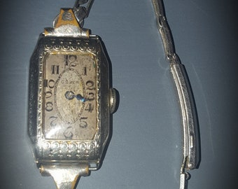 1920's 14k Gruen Art Deco Ladies Watch-Still Ticks!