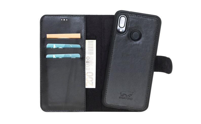 the best attitude 2d077 3af97 Huawei P20 lite Leather Wallet Case, Deatchable Phone Case, P20 lite Case,  Leather P20 lite Wallet, Personalized huawei p20 lite wallet case