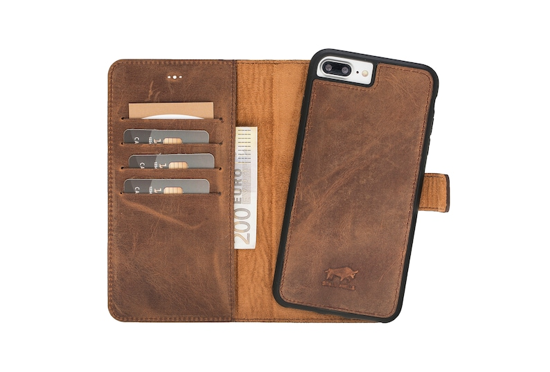 size 40 d465a 887c4 Brown Leather iPhone 7 Plus Case, Leather iPhone 7 Plus Wallet, iPhone 7  Plus Sleeve, iPhone 7 Plus Leather Wallet, iPhone 7 Plus Case
