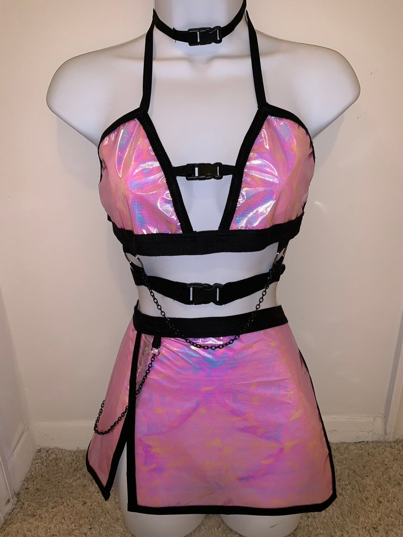 6fd5fda70e Buckle me up set 3 pink holographic iridescent reflective