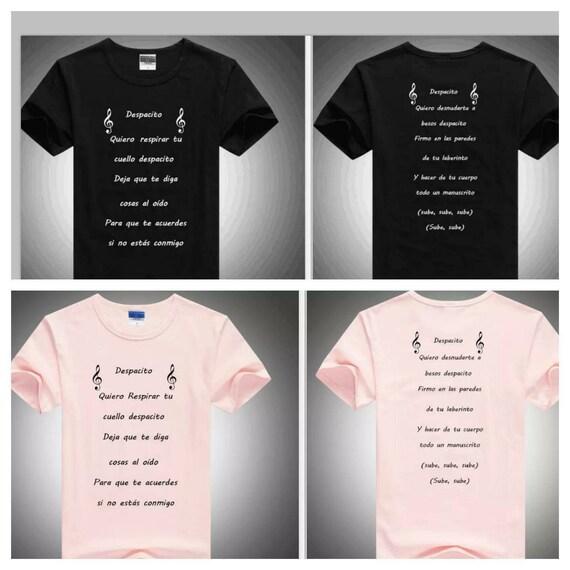 Despacito Lyrics Shirts Men Women Luis Fonsi Daddy Yankee Etsy