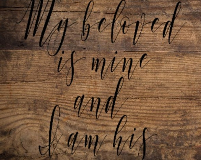 Board signs, Gallery wall, My Beloved Board Sign, Handmade Home Decor, Farmhouse Decor,  Simple Southern Decor, Magnetic Picture and Framing