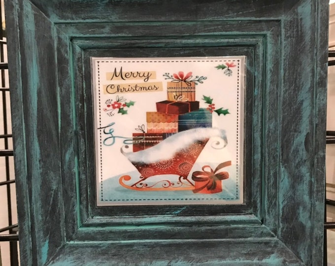Sleigh, Christmas Sleigh, Magnetic Art,  Home Decor, Picture for our frames, One Frame endless possibilities, Magnetic Art Decor