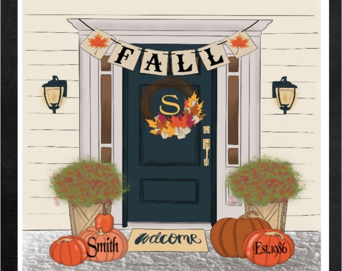 Custom Fall Pictures, Great Gifts, Fall Lovers , Custom Fall Fun into Pictures, Simple Southern Decor, Magnetic Picture and Framing System,