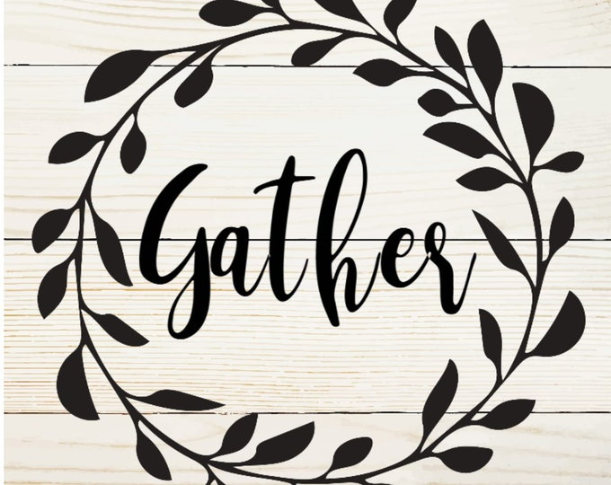 Gather Board Sign, Gallery wall, Handmade Home Decor, Farmhouse Decor, Simple Southern Decor, Magnetic Picture and Framing