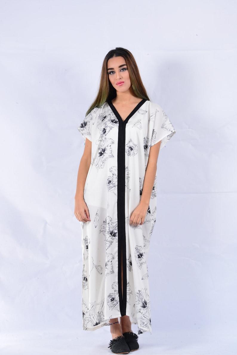 83098df178a2 Summer Kaftan Moroccan caftan floral beachwear handmade maxi