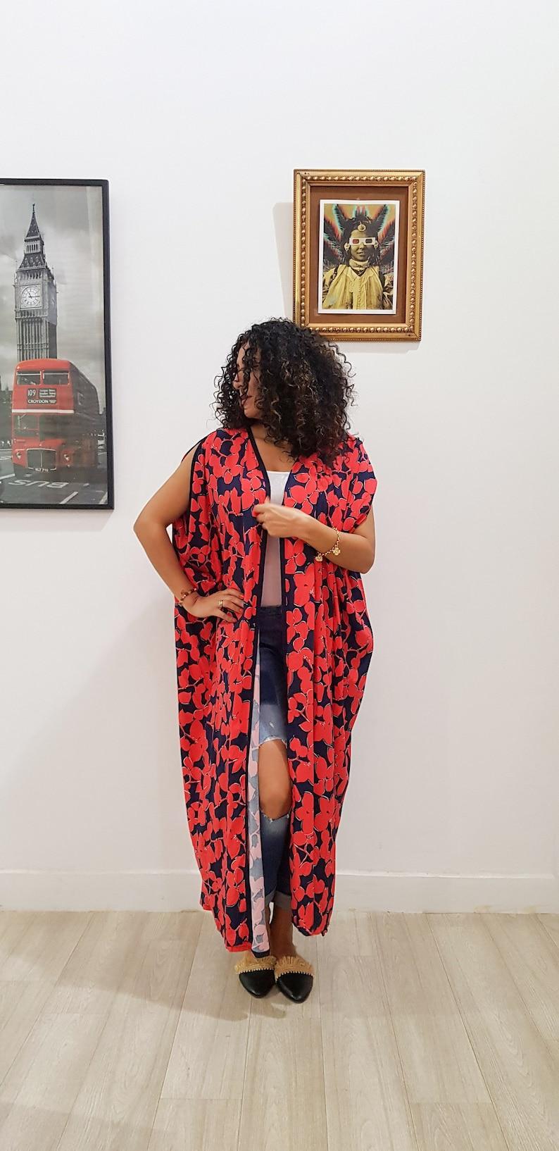109b14b10b17 Summer Kaftan Moroccan caftan floral beachwear handmade kimono