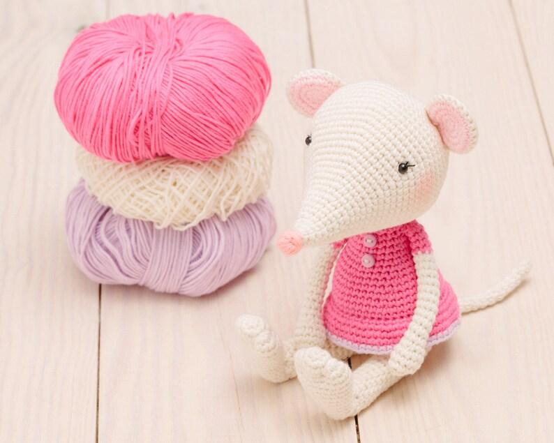 Mouse amigurumi crochet pattern mouse crochet animal pattern image 0