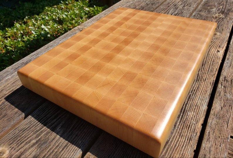 Medium 14x20 Hard Maple End Grain Cutting Board