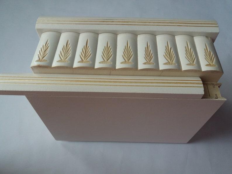 Big jewelry storage magic puzzle box white with hidden key drawer magic opening huge treasure carved trinket box brain teaser