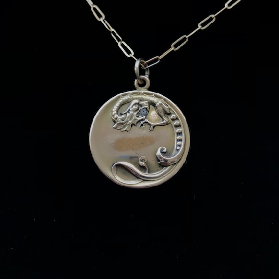 Antique Gold-filled Dragon Necklace