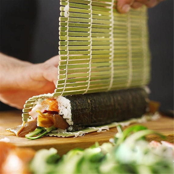 US Easy Cook Tool Bamboo Sushi Rolling Roller Kitchen Hand Mat Maker Rice Paddle