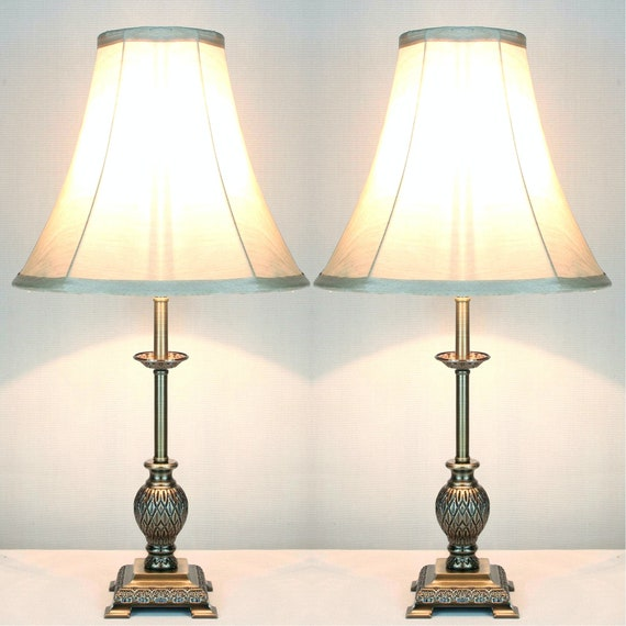Pair Of Traditional Antique Style Table, Lamps Antique Style