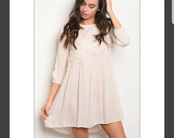 Crochet Detail Tunic Dress