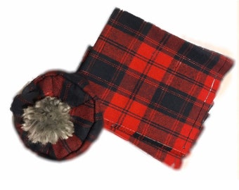 """SCOTTISH WORLD OUTFIT SHIRT KILT TAM PURSE SCARF for 16/"""" CPK Cabbage Patch Kids"""